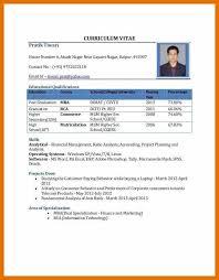 Sample Resume Fresher Best Solutions Of Cv Format For B Tech