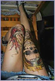 Amazing Knee Roses And Alien Tattoo Design Ideas Tattoos Designs