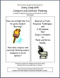 an original compare and contrast writing lesson demonstrating a high quality comparison