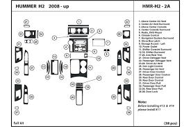 2008 hummer h2 dl auto dash kit diagram