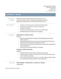 Inspiration Ministry Resume Templates Free In Free Examples Of