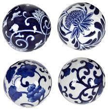 Decorator Balls Fascinating Porcelain Blue White Decorative Balls 32Piece Set Traditional