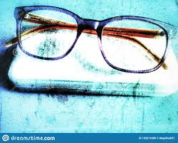 Progressive Lenses Blue Light Glasses For The Sight On A Light Blue Background Modern
