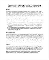 commemorative speech examples sample speech essay speech sample sample speech outline 8 documents in pdf word