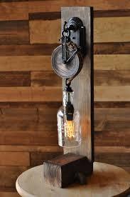 bottle desk lamp