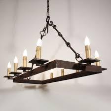 custom made custom 10 light iron chandelier