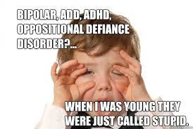 bipolar, add, adhd, oppositional defiance disorder?... when i was ... via Relatably.com