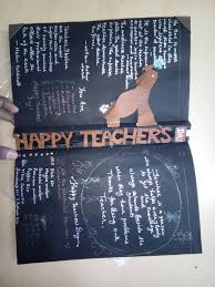 Happy Teachers Day Chart Teachers Day Greeting Card Homemade 6 Steps