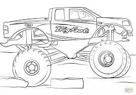 Small Picture Bigfoot Monster Truck coloring page Free Printable Coloring Pages