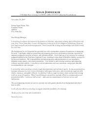 Cover Letter General Interest Cover Letter Cover Letter General