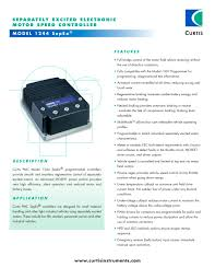 model 1244 sepex® curtis instruments pdf catalogue technical model 1244 sepex® 1 3 pages