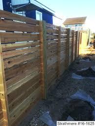 horizontal wood fence panels. Modern Wood Fence Horizontal Panels