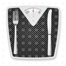 Black Bathroom Scales Black Bathroom Scales With Fork And Knife Vector Image 26023