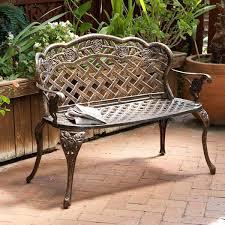 outdoor garden bench outdoor patio furniture fl design antique copper cast aluminum garden bench