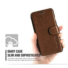 verus dandy leather style samsung galaxy s6 wallet case brown