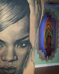 Rihanna Portrait Back Tattoo Tattoo Geek Ideas For Best Tattoos