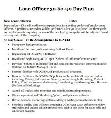 30 60 90 Business Plan Mortgage Loan Officer Business Plan Template 8 Sample 30 60 90 Day