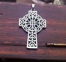 Large, Retired James Avery Openwork Celtic Cross Pendant GORGEOUS! Orig.  Box | #1788181449