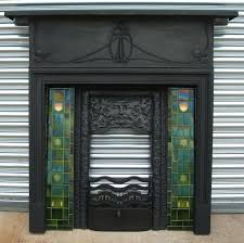 art deco tiles fancy black fireplace face ornamental great antique fireplaces ideas