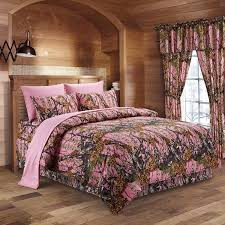 the woods pink camouflage king 8pc premium luxury comforter