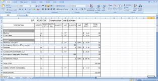 Construction Cost Estimate Template Free Download In Spreadsheet ...