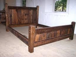 Rustic Bed Frames Rustic Wood Bed Frame Plans Rustic California King ...