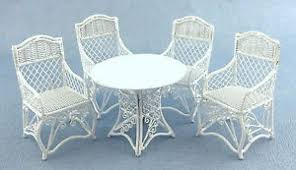 Sedie In Ferro Battuto Ebay : Dolls house miniature garden furniture white wrought iron patio