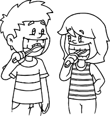 Small Picture Kids Brushing Teeth Coloring Page In Pages glumme
