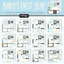 Scrapbook Customs Baby Boy Collection 12 X 12 First Year Paper Pack