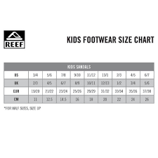 Reef Kids Size Chart Grom Roundhouse