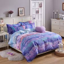 purple duvet cover queen. Perfect Queen Romantic Designer Purple Bedding Set Queen Twin Size Lavender Print Duvet  Cover Flat Bedspread Pillowcases In Duvet Cover Queen D