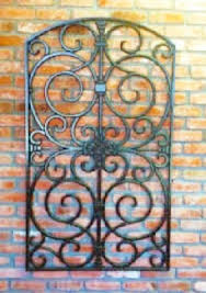 faux wrought iron outdoor wall decor