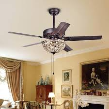 casimer 5 blade 3 light crystal bronze 42 ceiling fan grand reviews