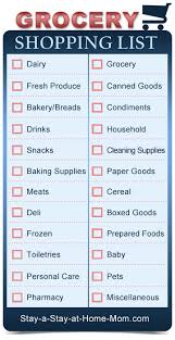 grocery checklist blank grocery shopping list free template