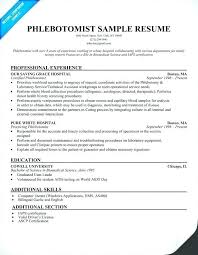 Phlebotomy Cover Letter Custom Sample Resume With No Experience Unique Cover Letter For