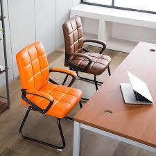 office orange. Large Size Full Leather Designed Office Chair \u2013 Orange T