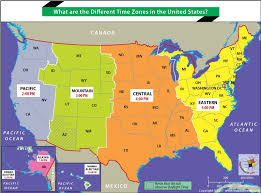 Indiana Time Zone Map Map Of Us Time Zones State Usa Time Zone Map