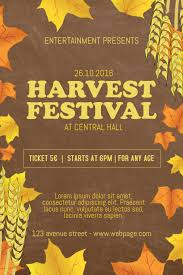 Fall Festival Flier Harvest Festival Flyer Template Postermywall