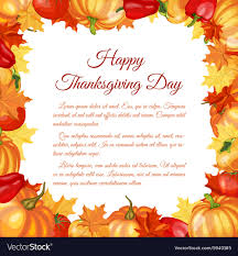 Thanksgiving Day Greeting Card Royalty Free Vector Image