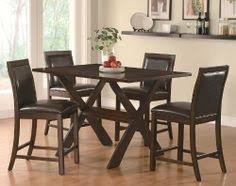 coaster furniture dobson 5 piece counter height table and chair set