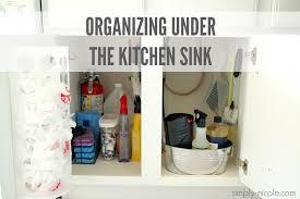 Organizing Kitchen Organizing Under The Kitchen Sink Simply Nicole