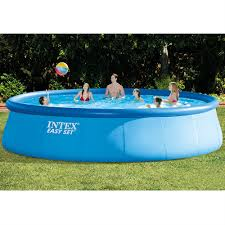 intex above ground pool rectangle. Above Ground Swimming Pool Round Soft Sided Intex 18\u0027 Filter Pump Ladder Cover | EBay Rectangle