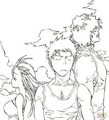 Bleach Coloring Pages Trio From Manga Anime Page Free Printable 1515