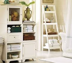 Creative Bathroom Storage Designs With Ladder Shelves Creative