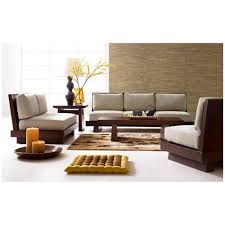 Wooden Sofa Sets For Living Room Induscraft Sheesham Wood 5 Seater Sofa Set Sofas Homeshop18