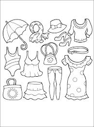 Clothing coloring games and clothing coloring book for children! Summer Clothing Coloring Page Coloring Pages Coloring Books Coloring Book Clothes Coloring Pages