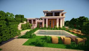 minecraft modern fence designs. Exterior: Heavenly Tree Fence Fit To Cool Modern House With Wooden Chair On Green Grass Minecraft Designs