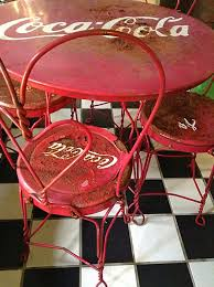 sold to stacey vintage coca cola ice cream parlor table and chairs