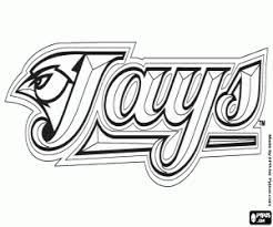 Small Picture Logo of Toronto Blue Jays coloring page printable game