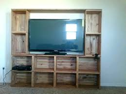 wooden crate tv stand entertainment center from crates wooden crate tv stand diy